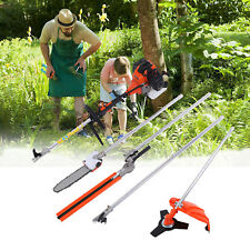 5 in 1 52cc Petrol Hedge Trimmer Chainsaw Brush Cutter Pole Saw