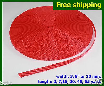"3/8""(10mm) Red Nylon webbing fabric Strap DIY supply 3 7 ..."
