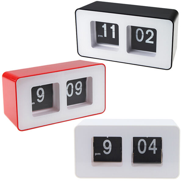 Retro Auto Flip Clock Classic Stylish Modern Desk Wall Digital Clock Home Decor
