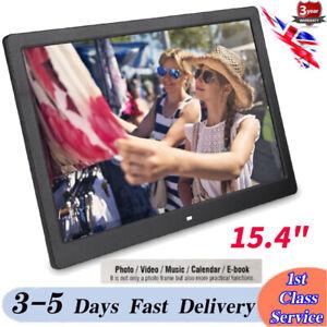 "15/"" HD LED Digital Photo Frame Picture Album Clock Calendar MP3//4 Movie Player"