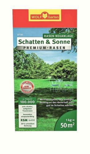 Rasensamen WOLF-Garten Premium-Rasen »Schatten /& Sonne« LP50 für ca NEU 50 m²