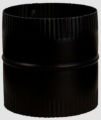 """IMPERIAL BM0048 7"""" Dia STARTER JOINT CONNECTOR UNION 24 Gauge Black Stove Pipe"""
