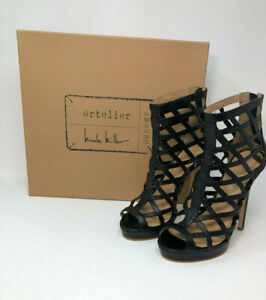 Nicole en Black Bootie Amelia compensé cuir Miller Taille plateforme avec 7mTalon thsQCrd