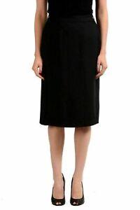 Maison-Margiela-4-Black-Women-039-s-Pencil-Skirt-US-S-IT-40