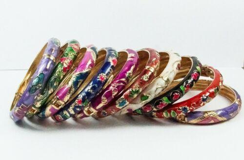 Para Mujer Pulsera Brazalete étnico Esmalte Cloisonne Varios Colores Joyas