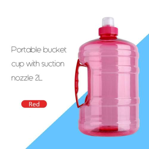 1L//2L Big BPA Free Sports Training Drink Water Bottle Kettle Cup With Handle Cap