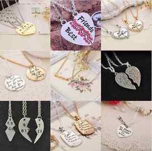 2015-Best-Bitches-Best-Friend-Forever-Gold-Silver-Break-Heart-Pendant-Necklace