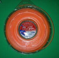 String Trimmer Cutting Line .095 Orange Square Line Usa Made 250 Ft 1 Lb