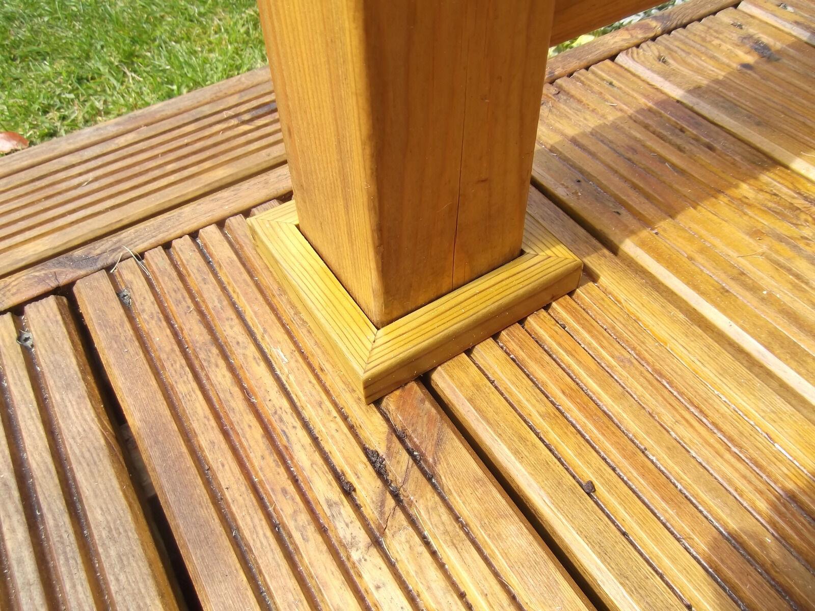 90mm Decking Trims Newel Post Skirting Base Finishing Deck Kit Gap Edging
