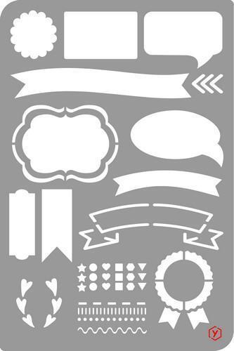 Schablone Vorlage Bullet Journal Icons 18x12cm zeichnen Scrapbooking Diary