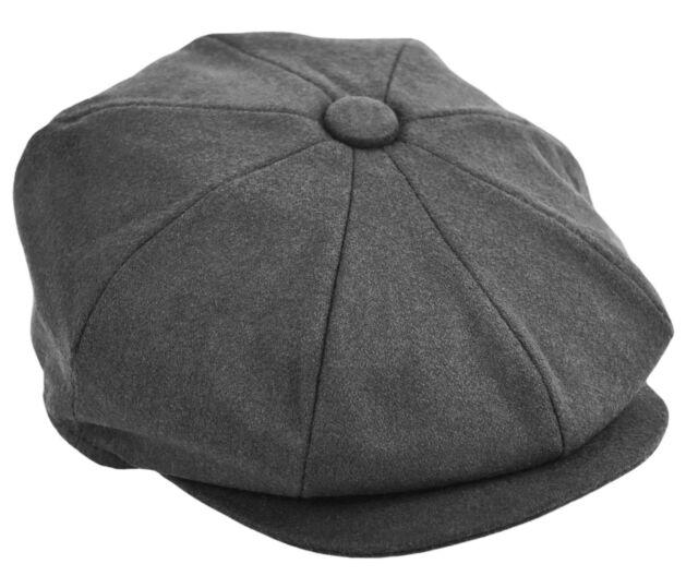 CLASSIC BROWN WOOL PLAID MADRAS 8 PANEL GREAT GATSBY BIG APPLE NEWSBOY CAP A10