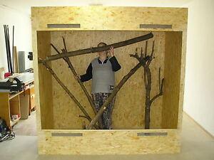 Terrarium 200x100x200 Holzterrarium Osb Holz Riesiges