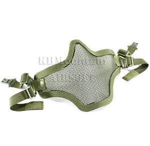Dream-Army-Strike-Steel-Lower-Face-Mesh-Mask-for-FAST-Helmet-FG-KHM-Airsoft