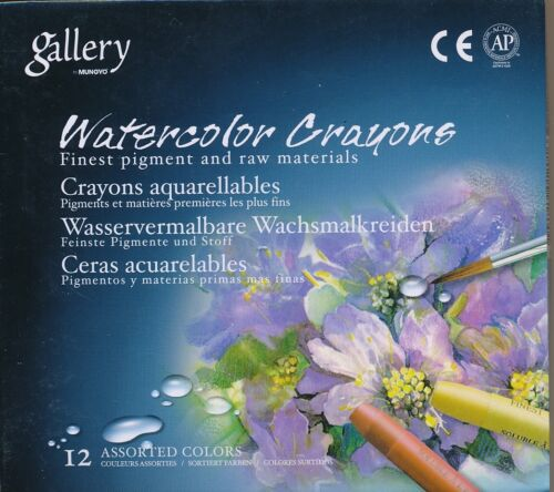Gallery Watercolor Crayons 12 24 or 36 piece  Makde in Korea Mungyo