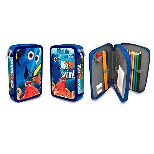 Disney Findet Nemo Dorie Federmappe Doppeldecker Mäppchen 27-tlg NEU pencil case