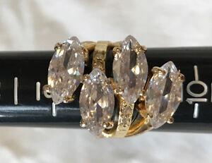 modélisation durable correspondant en couleur Baskets 2018 Details about Women's Gold Colored Ring With Four Shiny Stones Bijouterie