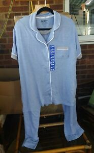 42f4ebcfc4e8 Image is loading DKNY-Notch-Collar-Pale-Blue-Designer-Short-Sleeve-