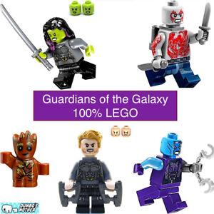 Guardians Of The Galaxy 76107 LEGO Infinity War STAR-LORD /& GAMORA Minifig Lot