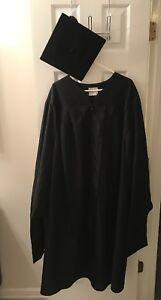 Herff Jones Unisex Black Masters Graduation Cap And Gown Ebay