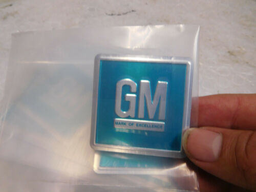 10 NEW 66-67 GM Mark Of Excellence Decals DOOR JAMB BLUE CHEVELLE 442//GTO//GS