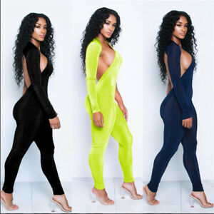 New Women's Solid Personality One-shoulder Sleeve Hollow Slim Street Jumpsuit
