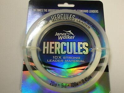 Jarvis Walker Hercules Mono Leader Material 100m ALL VARIETIES Fishing tackle