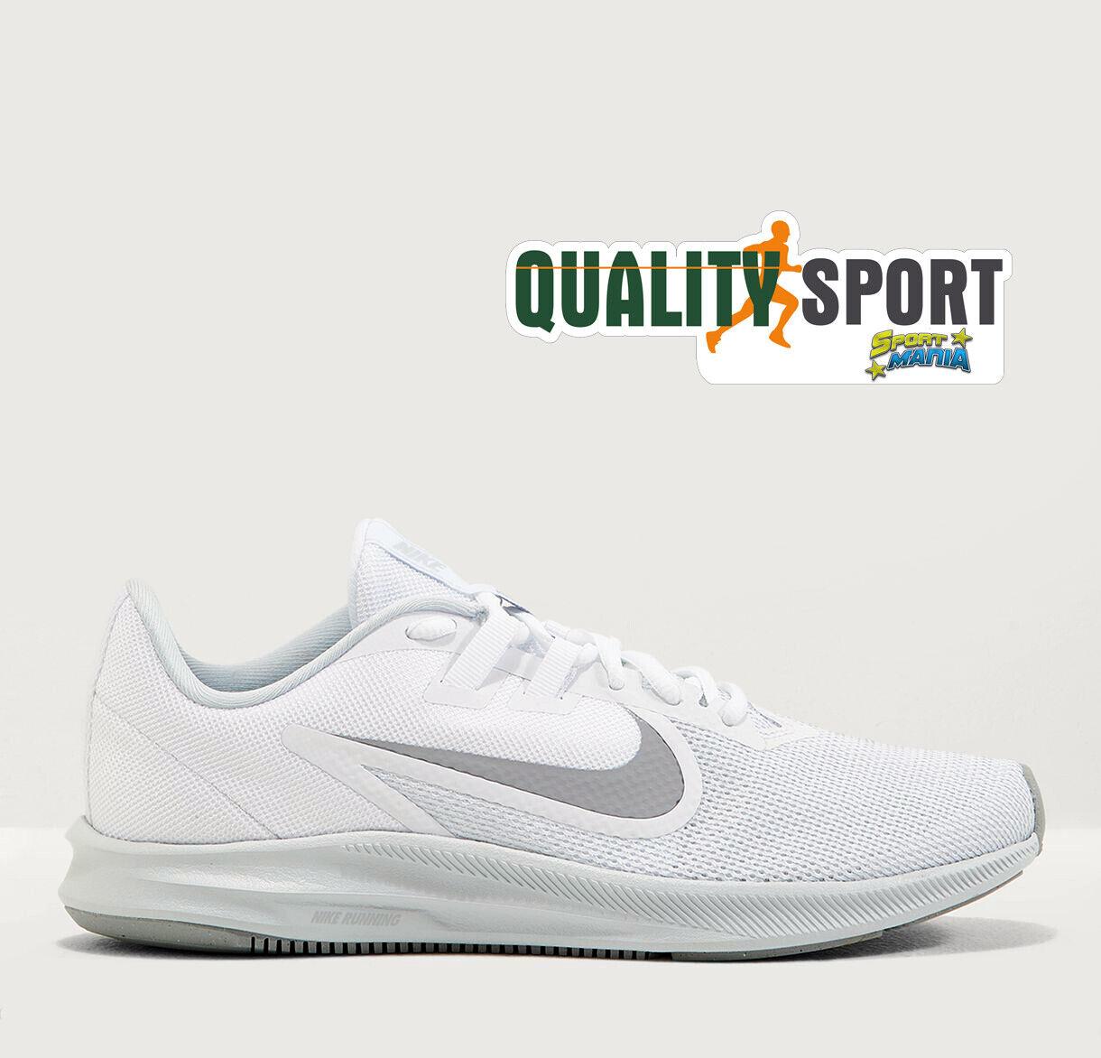 Nike Sport Schuhe Downshifter 9 Weiß Schuhe Frau Sport Running AQ7486 100 2019