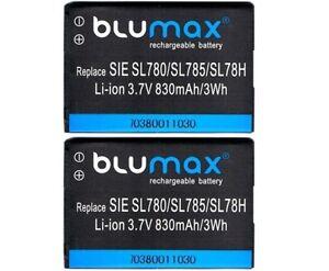 2-X-Original-Blumax-Akku-fuer-Siemens-Gigaset-SL78-SL78H-SL780-SL785-Accu