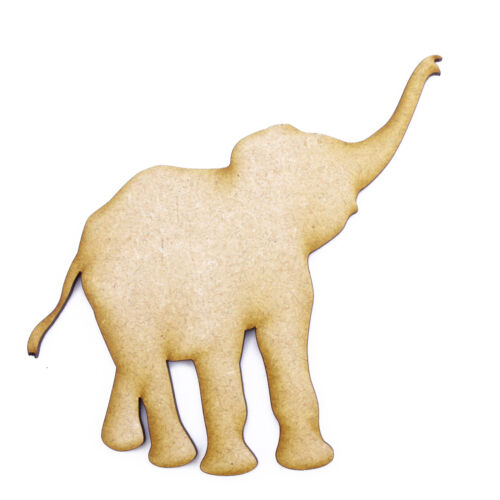 3mm MDF Laser Cut Craft Blank Scrapbook Card Topper Embellishment Shape Elephant