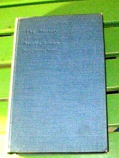 The MESSAGE  of PSYCHIC SCIENCE- (1908)  Boole-thought transference-theology