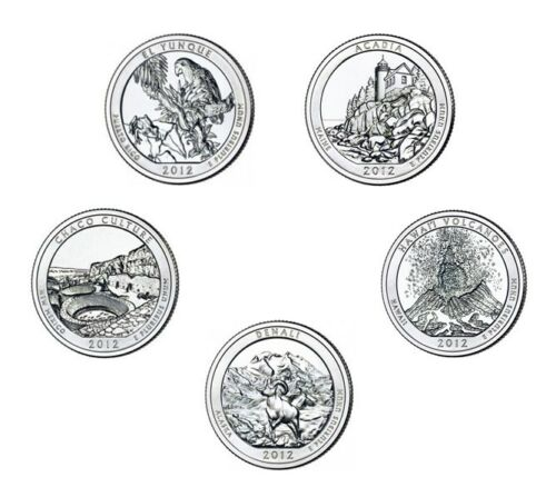 2012 S 25C Minted BU State Park Quarters With S Mint Mark 5 Total