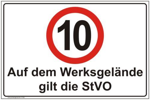 Hinweis,Schild,Auf dem Werksgelände gilt die StVO,Betriebskennzeichnung P183