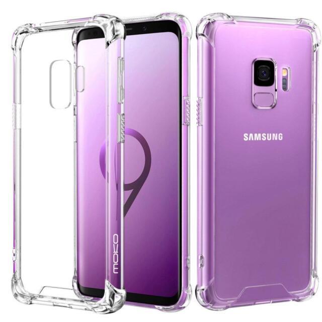 size 40 dcb0b 412f1 MoKo Samsung Galaxy S9 Case Crystal Clear Reinforced Corners TPU Bumper  Cushion