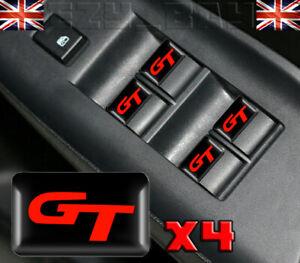 x4-Red-GT-3D-Dome-Interior-Stickers-Emblem-Logo-Badges-For-Kia-VW-Golf-Audi-Jag