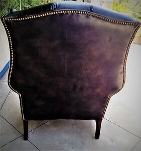 Peachy Details About Arm Chair Furniture Used Leather Material Schafer Bros Made In U S A Machost Co Dining Chair Design Ideas Machostcouk