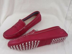 1cd60b2944a07 New Womens Lacoste Concours 5 SRW Red NUBUCK Loafers And Slips On ...