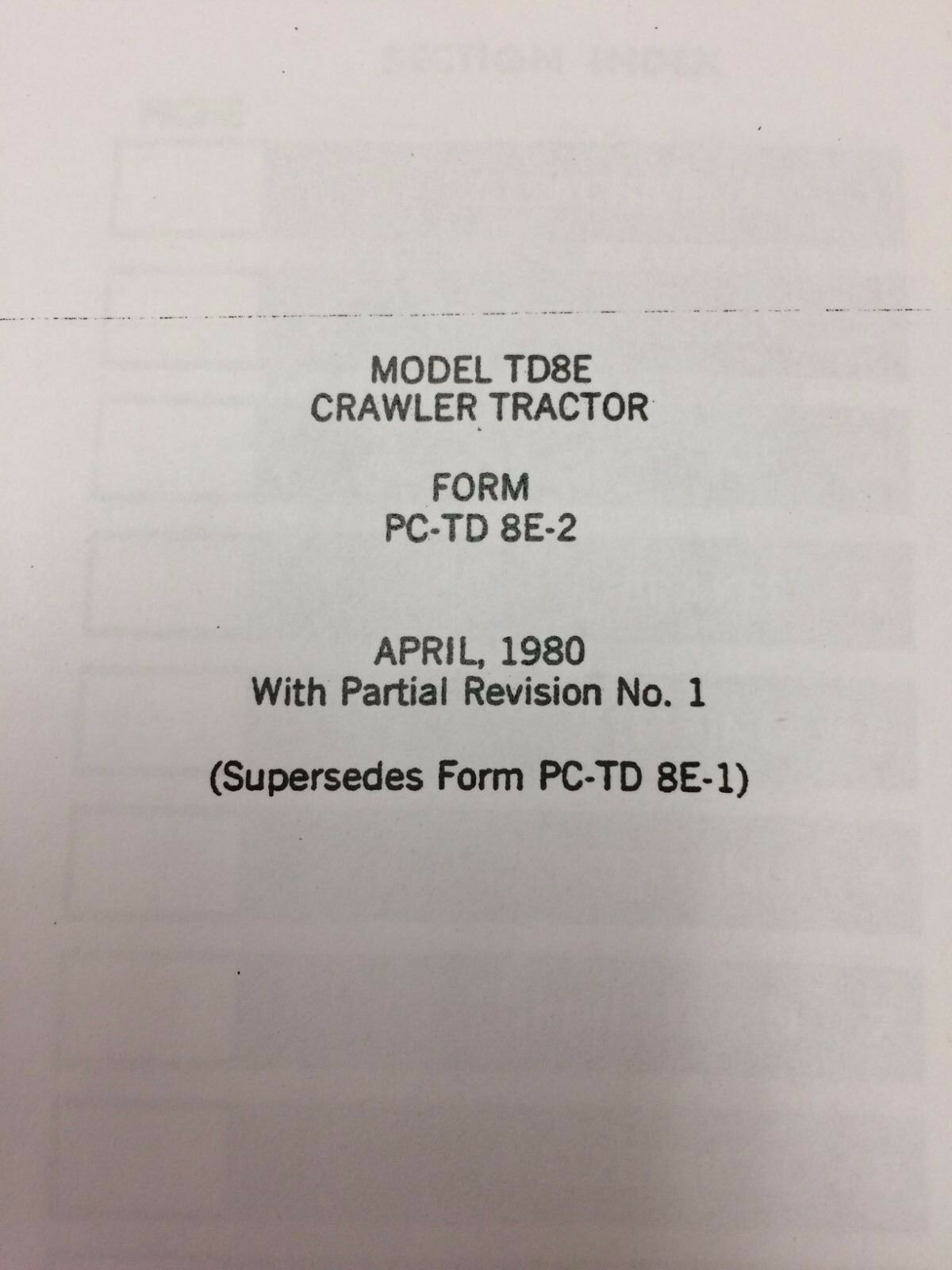 Dresser IH International Td8e Crawler Tractor Parts Book Manual Form  PCTD8E2 Lo | eBay
