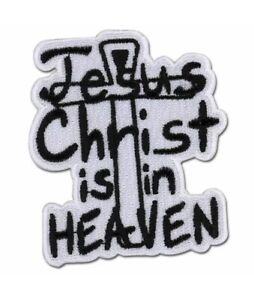 Hellsing-Ultimate-Jesus-Christ-is-in-Heaven-Iron-Sew-On-Fabric-Patch-Licensed