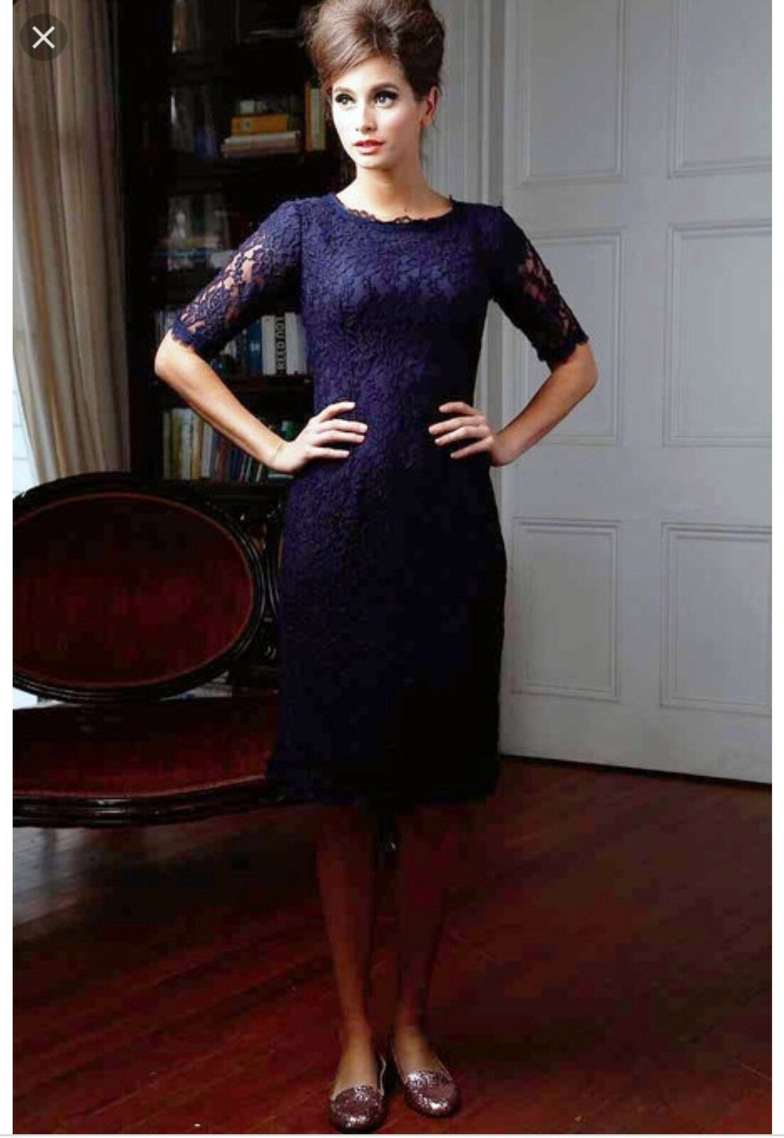 Shabby Apple Navy bluee Lace Dress  Size 2