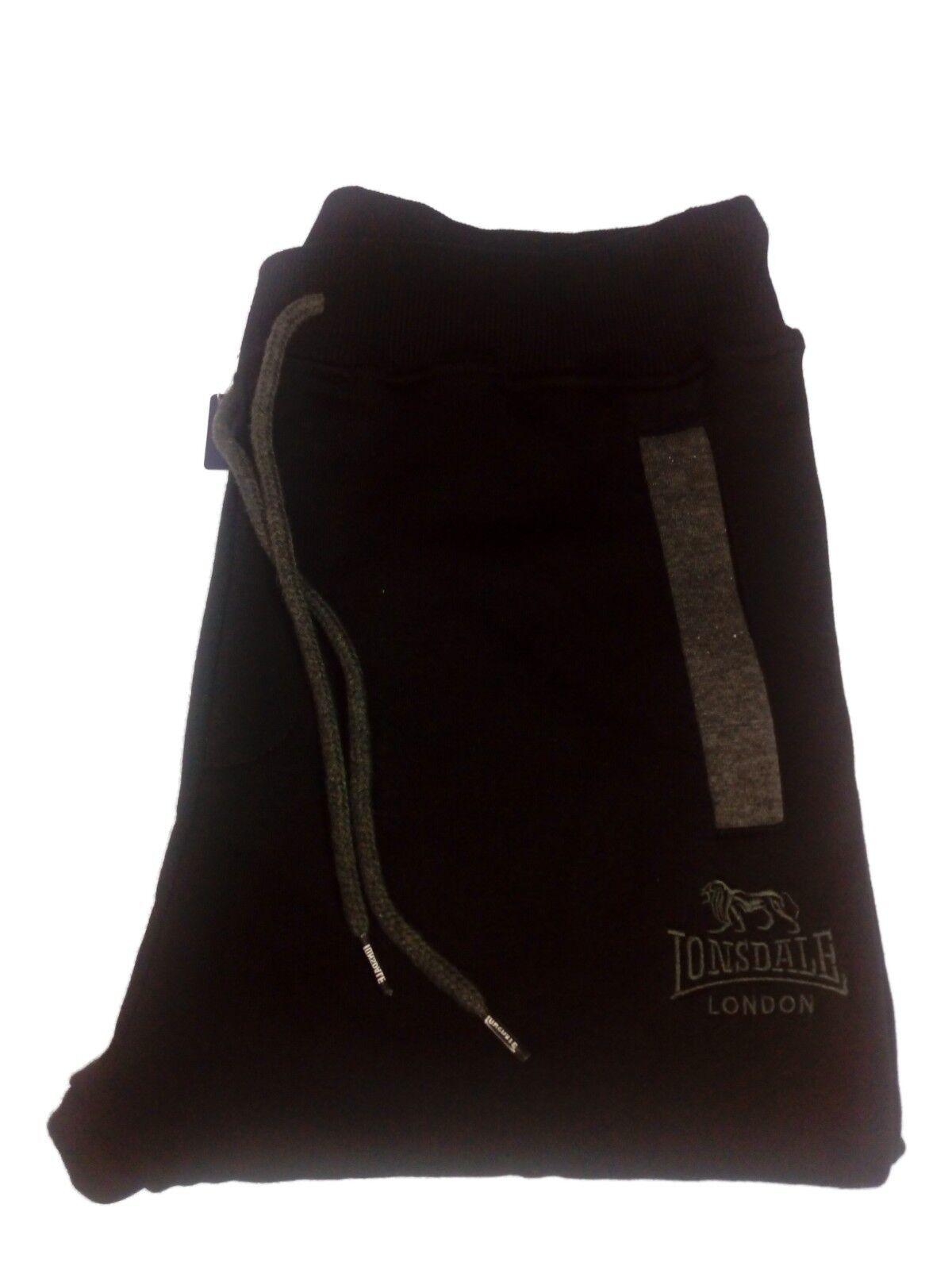 Pantaloni di Tuta men LONSDALE Invernale in Cotone Feloato black tg L