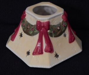 NEW-Yankee-Candle-Shade-Christmas-Ribbon-and-Garland-square-for-Large-amp-Med-Jar