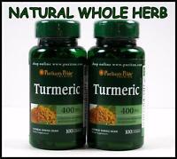Puritans Pride Turmeric 400mg 200 Capsules Antioxidant Curcuma Longa Tumeric