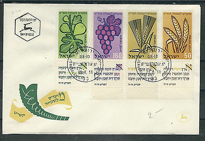 167/170 Auf Fdc Eleganter Auftritt Hell Alle Welt Israel Mi.nr Briefmarken