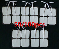 20/40/80 Replacement Electrode Tens Units Electrode Pads 2 X 2 Inch White Cloth