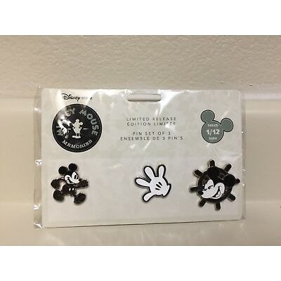 Mickey Mouse Memories January Collection Limited Release 1/12 Pins Set Of 3