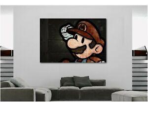 SUPER-MARIO-GAMES-NINTENDO-Canvas-Wall-Art-Print