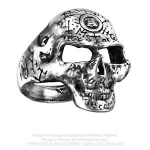 Alchemy-England-Gothisch-R122-Ring-A-Schaedel-in-Pewter-Omega-Skull-Ring