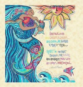 LB Sea Goddess Elegant MetalliFish Print by Laurel Burch for Clothworks