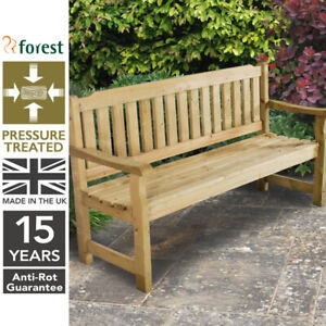 Forest 5ft Rosedene Wooden Garden Bench Pressure Treated