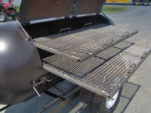 BBQ-PIT-SMOKER-competition-GRILL-trailer-double-racks-barbecue-concession-cooker